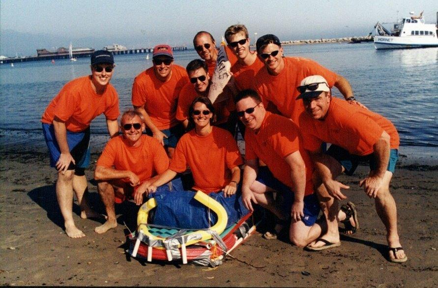 Beach Olympics - Orange Boat