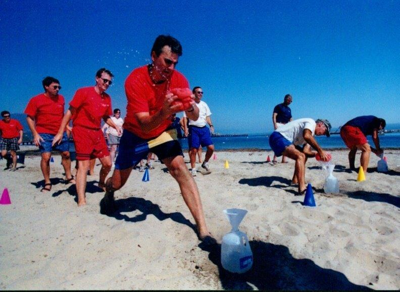 Beach Olympics Water Relay