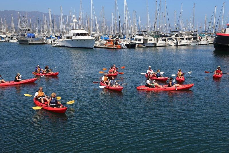 Group-Kayak-Excursion-Santa-Barbara