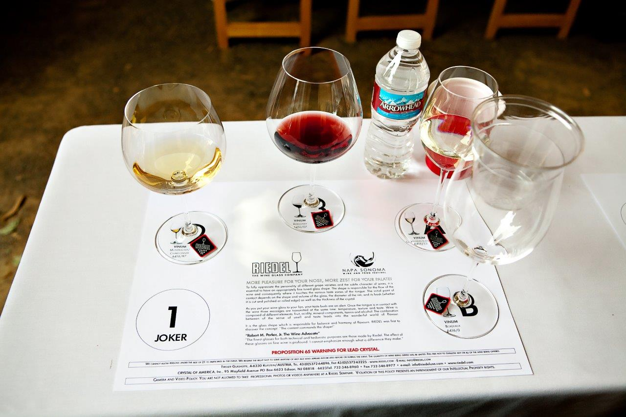 Napa Food and Wine Festival - Riedel Seminar Setting