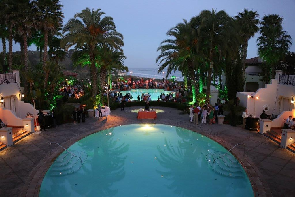 Poolside-Dinner-Lighting-Santa-Barbara-Resort