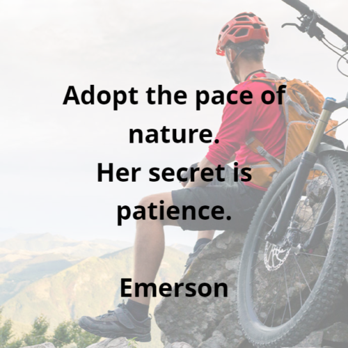 mountain bike background with quote