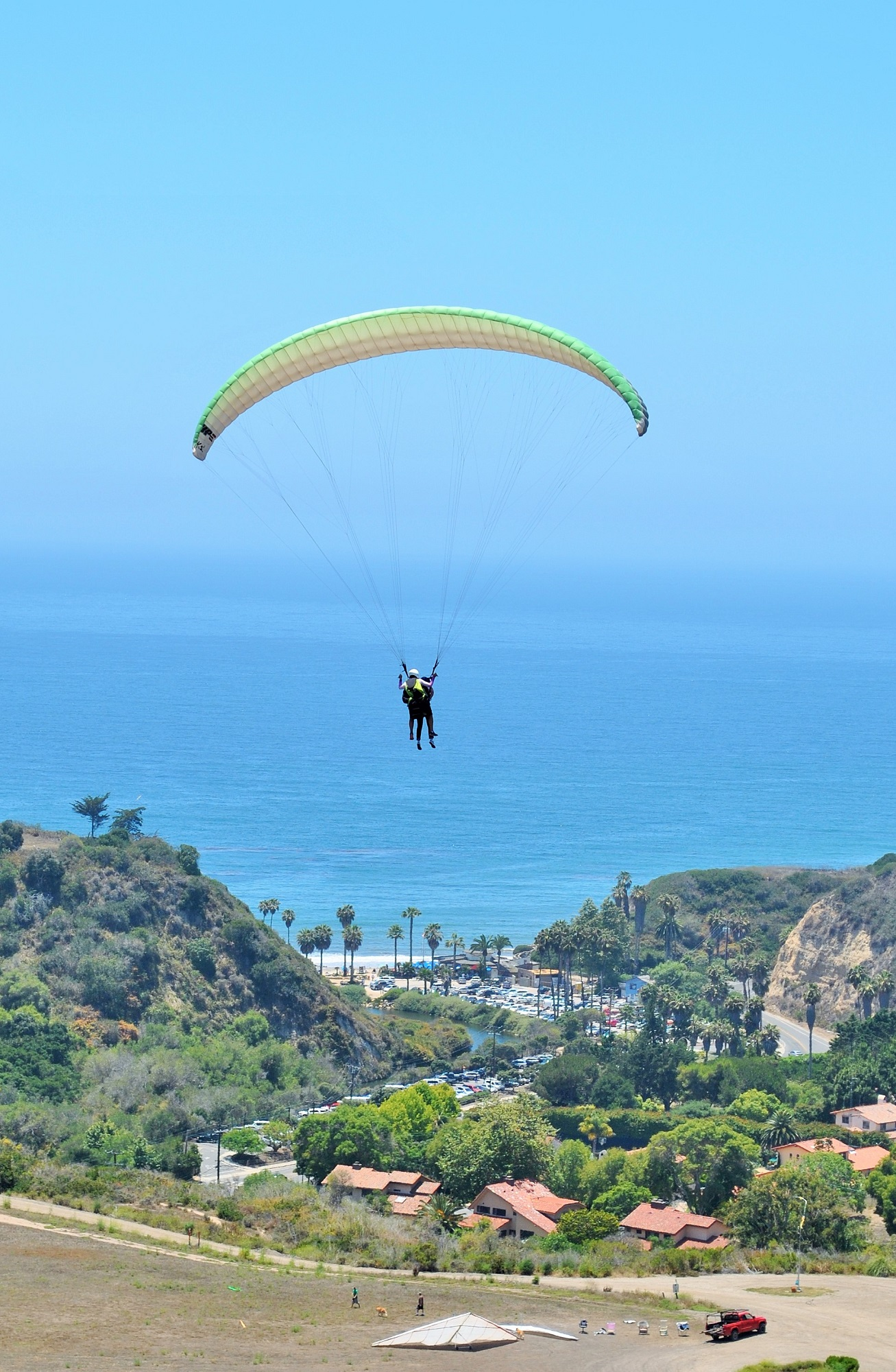 Tandem Paragliding with an Ocean view