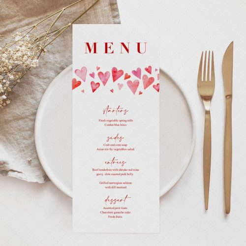 hearts place setting